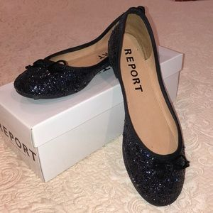 Sparkly Report Ballet Flats